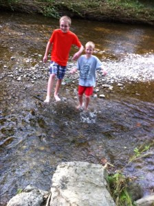 Kids Love the Creek - Catharine Cottages/Watkins Glen, New York